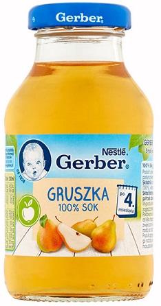 Gerber 100% sok gruszka