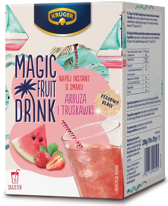 Krüger Magic Fruit Drink napój instant o smaku arbuza i truskawki