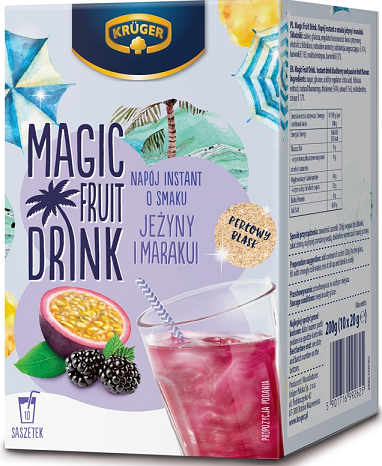 Magic Fruit Drink o smaku jeżyny i marakui