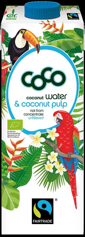 Coco woda kokosowa niefiltrowana BIO fair trade