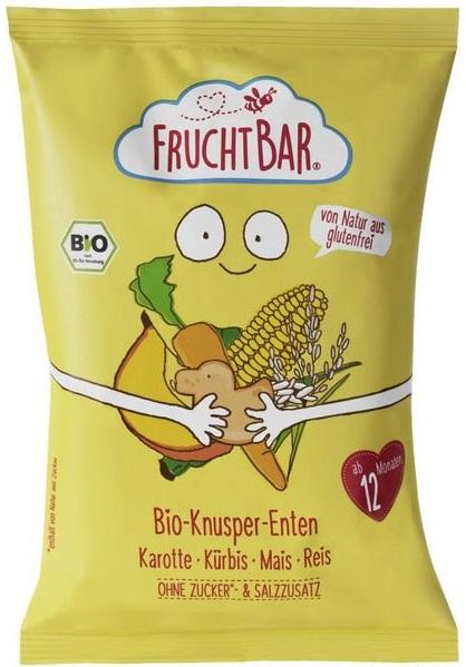 Fruchtbar Chrupki kukurydziano- ryżowe marchwiowo-dyniowe BIO