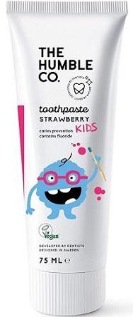 Humble Brush Truskawkowa  pasta do zębów dla dzieci z fluorem