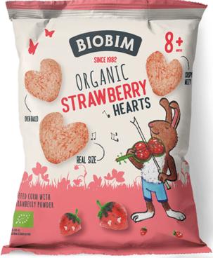 Biobim Chrupki kukurydziane  truskawkowe BIO