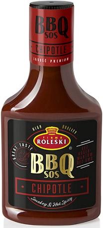Roleski Sos BBQ Chipotle z wędzoną papryką jalapeno