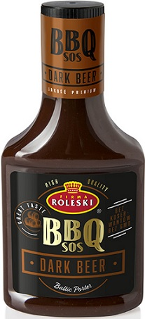 Roleski Sos BBQ Dark Beer z ciemnym piwem
