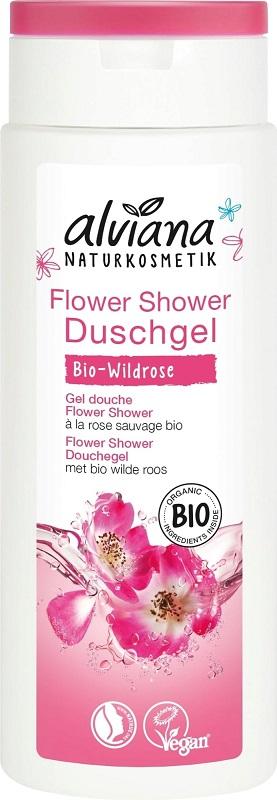 Alviana Żel pod prysznic Flower Shower z bio dziką różą i bio hibiskusem