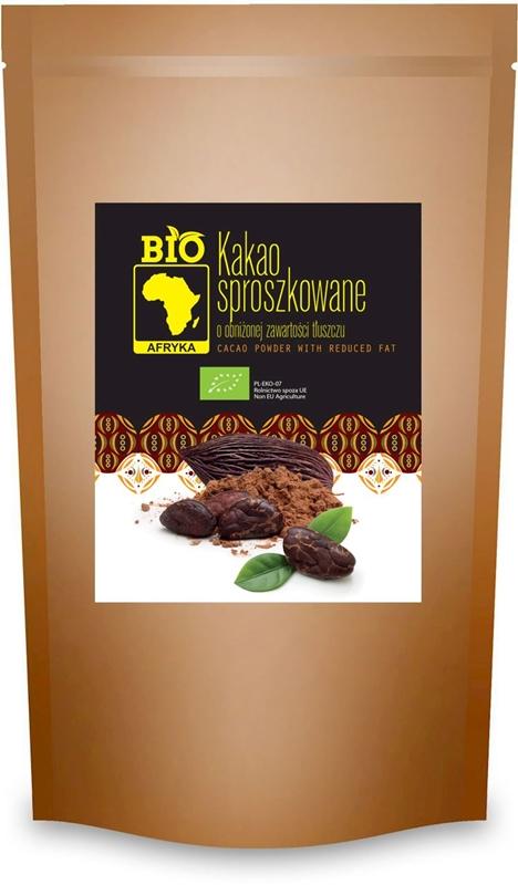 BIO Afryka kakao sproszkowane o obniżonej zawartości tłuszczu BIO