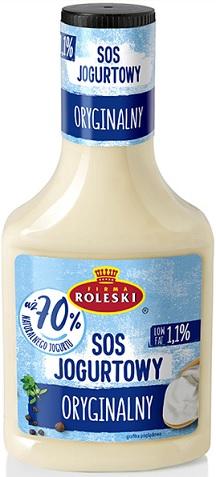 Roleski Sos Jogurtowy Oryginalny 70% jogurtu