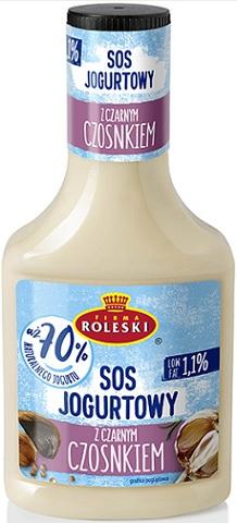 Roleski Sos Jogurtowy z Czosnkiem 70% jogurtu