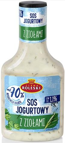 Roleski Sos Jogurtowy z Ziołami 70% jogurtu