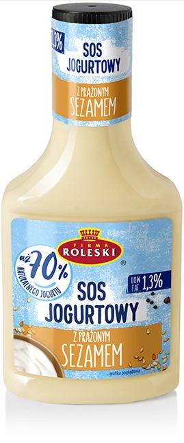 Roleski Sos Jogurtowy z Sezamem 70% jogurtu