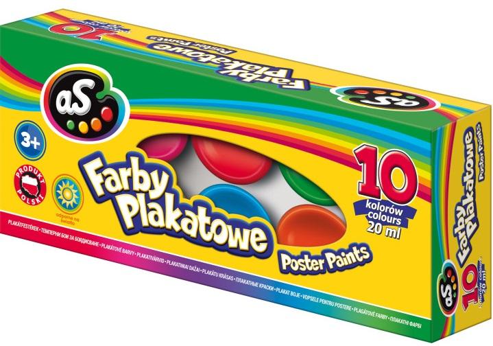 As Farby plakatowe 10 kolorów