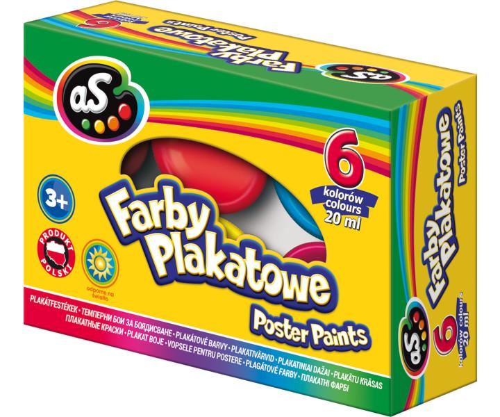 As Farby plakatowe 6 kolorów