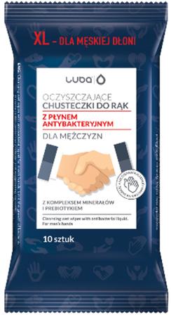 Luba Oczyszczające chusteczki  do rąk z płynem antybakteryjnym dla mężczyzn