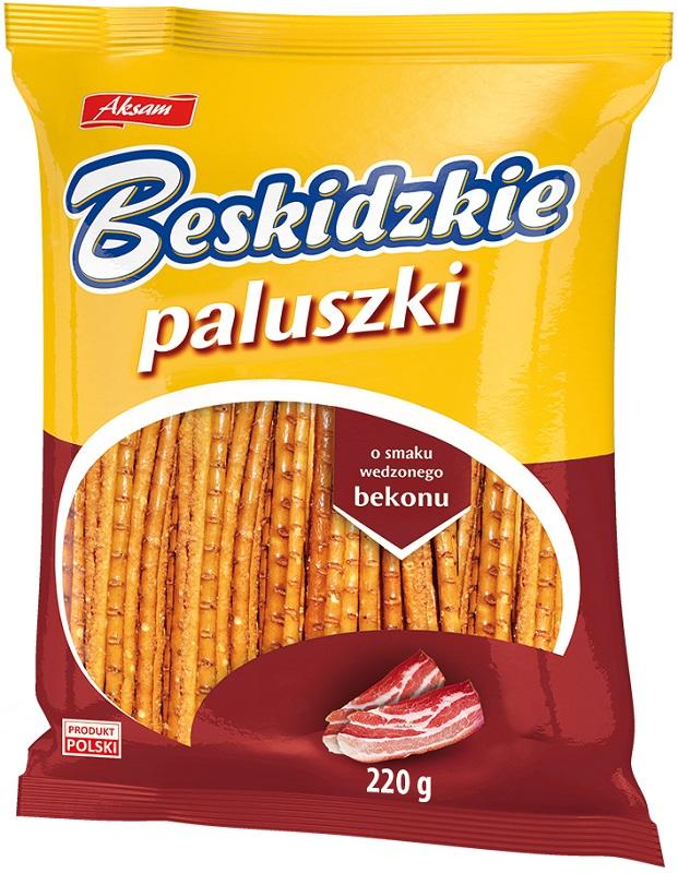 Aksam Beskidzkie Paluszki  o smaku wędzonego bekonu