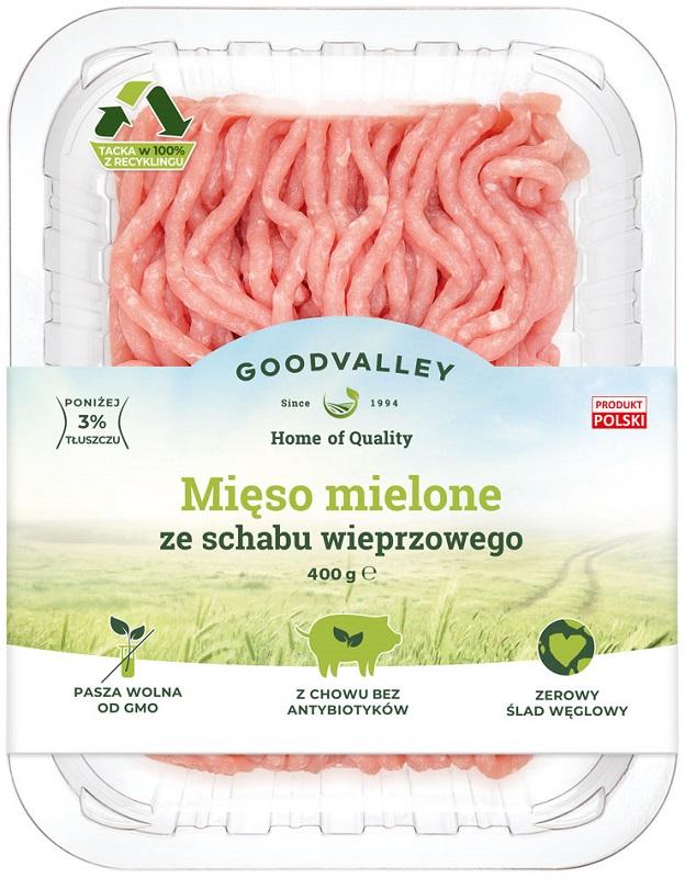 Goodvalley Mięso mielone ze schabu  wieprzowego z hodowli bez użycia antybiotyków