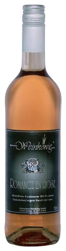 Weinkoenig wino bezalkoholowe różowe wytrawne romance en blanc BIO