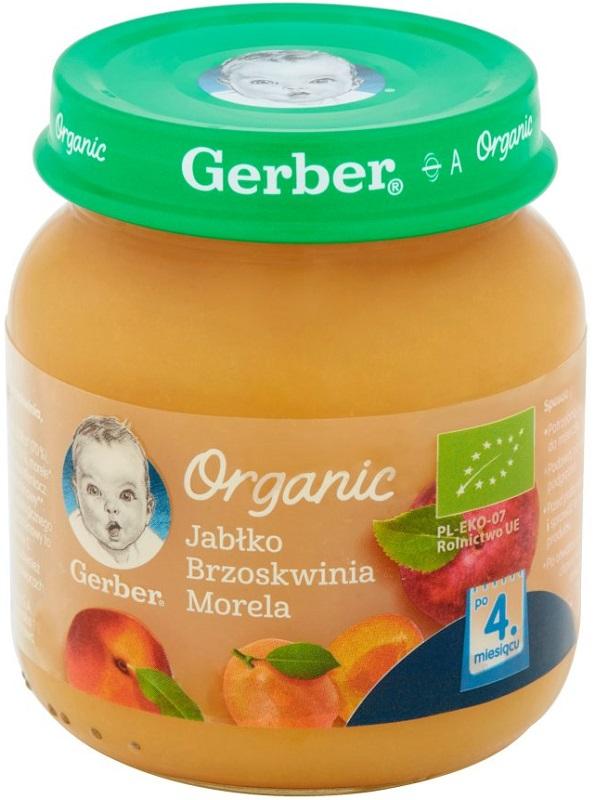 Gerber Organic Jabłko brzoskwinia morele
