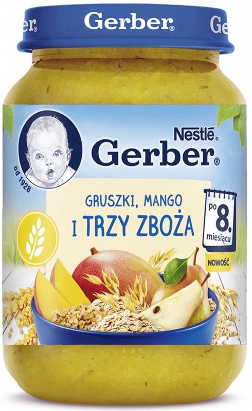 Gerber Gruszki mango i trzy zboża