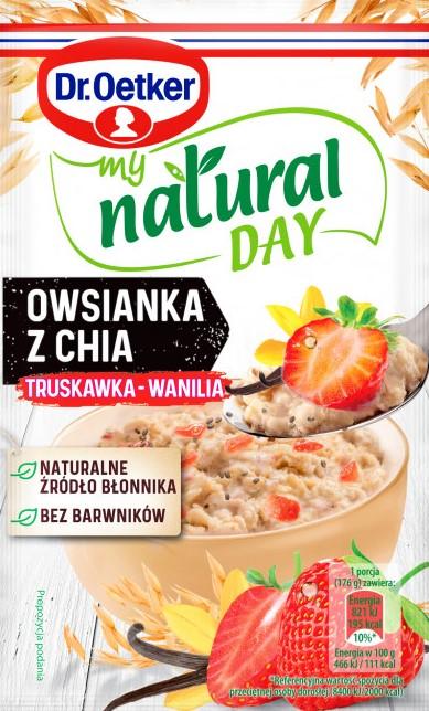 Dr. Oetker My Natural Day Owsianka  z chia truskawka-wanilia