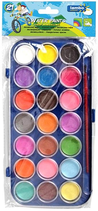 Lambo Farby akwarelowe z pędzelkiem 21 kolorów