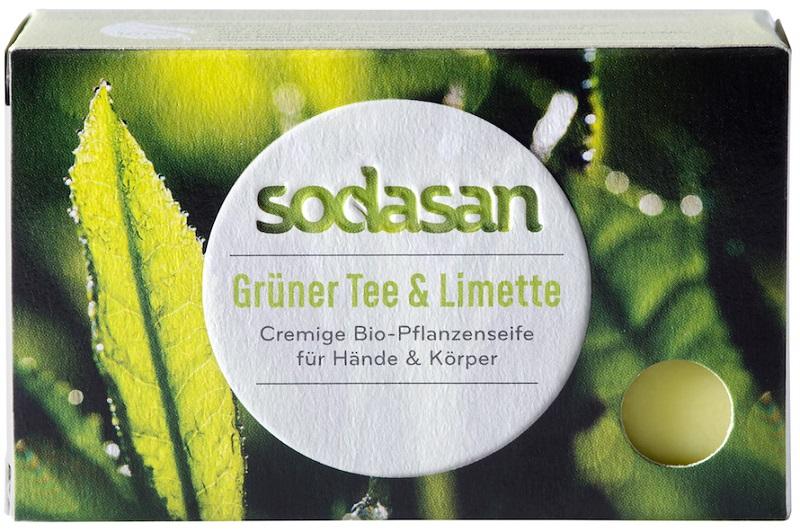 Sodasan Ekologiczne mydło  zielona herbata i limonka