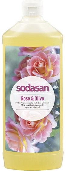 Sodasan Mydło różano-oliwkowe  w płynie