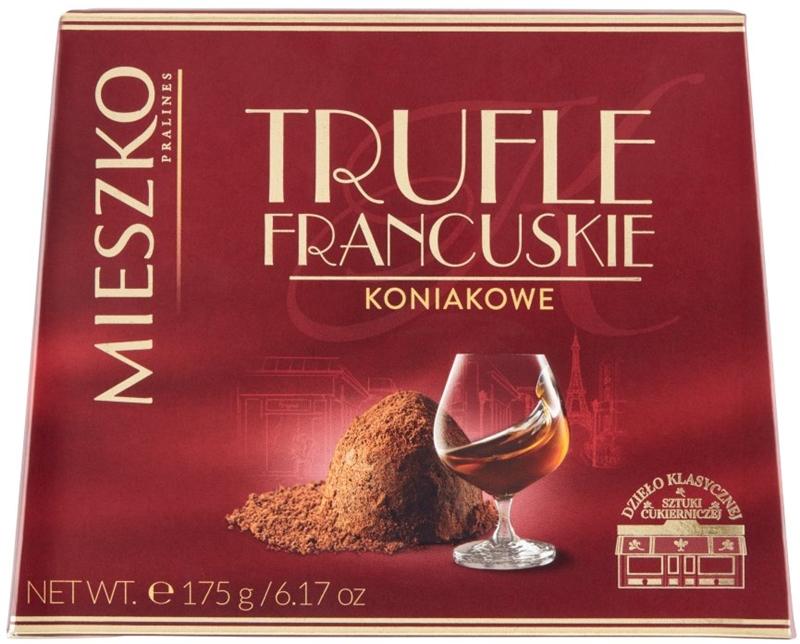 Mieszko bombonierka trufle  francuskie o smaku koniaku