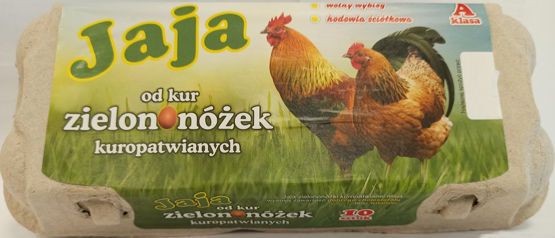 Jaja od kur zielononóżek  kuropatwianych, klasa A