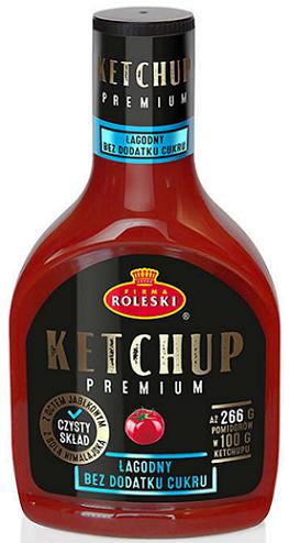 Roleski Ketchup Premium Łagodny NOWOŚĆ bez dodatku cukru