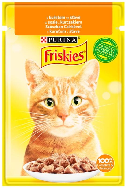 Корм для кошек Purina Friskies в соусе с курицей