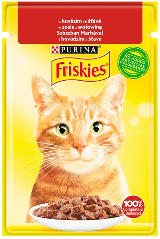 Корм для кошек Purina Friskies в говяжьем соусе