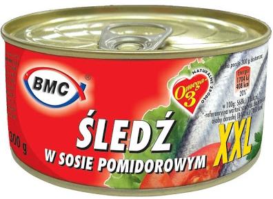B.M.C Śledź w sosie pomidorowym XXL