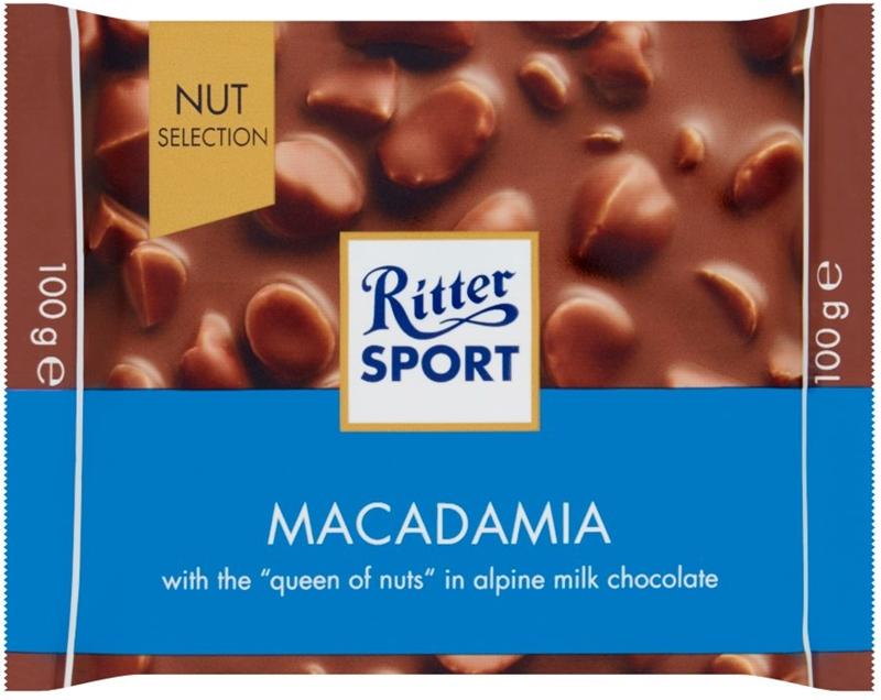 Ritter Sport Czekolada mleczna z  kawałkami orzechów makadamia