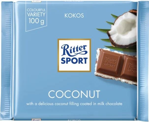 Ritter Sport Czekolada mleczna nadziewana kremem kokosowym