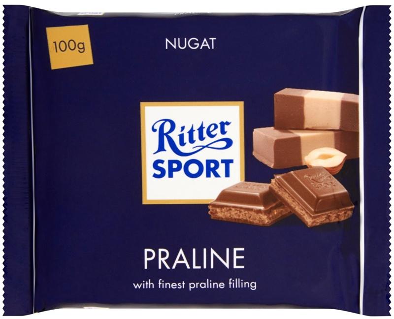 Ritter Sport Czekolada mleczna z  nadzieniem nugat - z orzechów laskowych