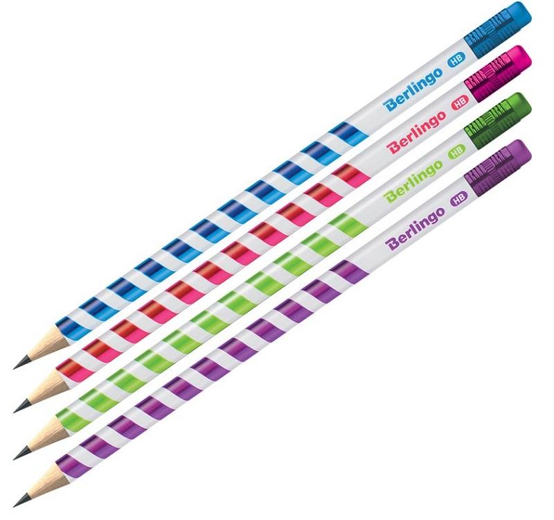 Berlingo Ołówek Supertwist HB  z gumką