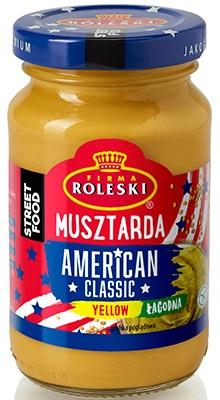 Roleski Musztarda American Classic łagodna, linia Street Food, NOWOŚĆ