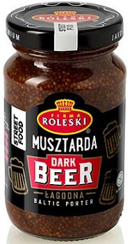 Roleski Musztarda Dark Beer linia Street Food, NOWOŚĆ łagodna