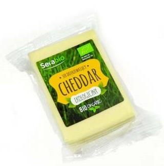 Cheddar ser żółty ekologiczny Serabio, w kawałku