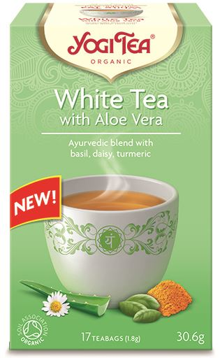 Yogi Tea Herbata biała z aloesem BIO