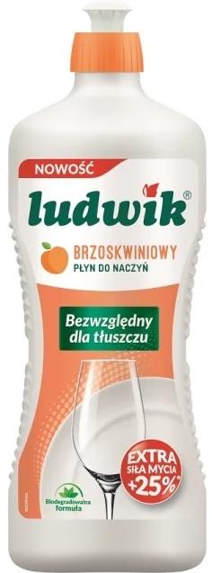 Ludwik płyn do mycia naczyń  brzoskwiniowy