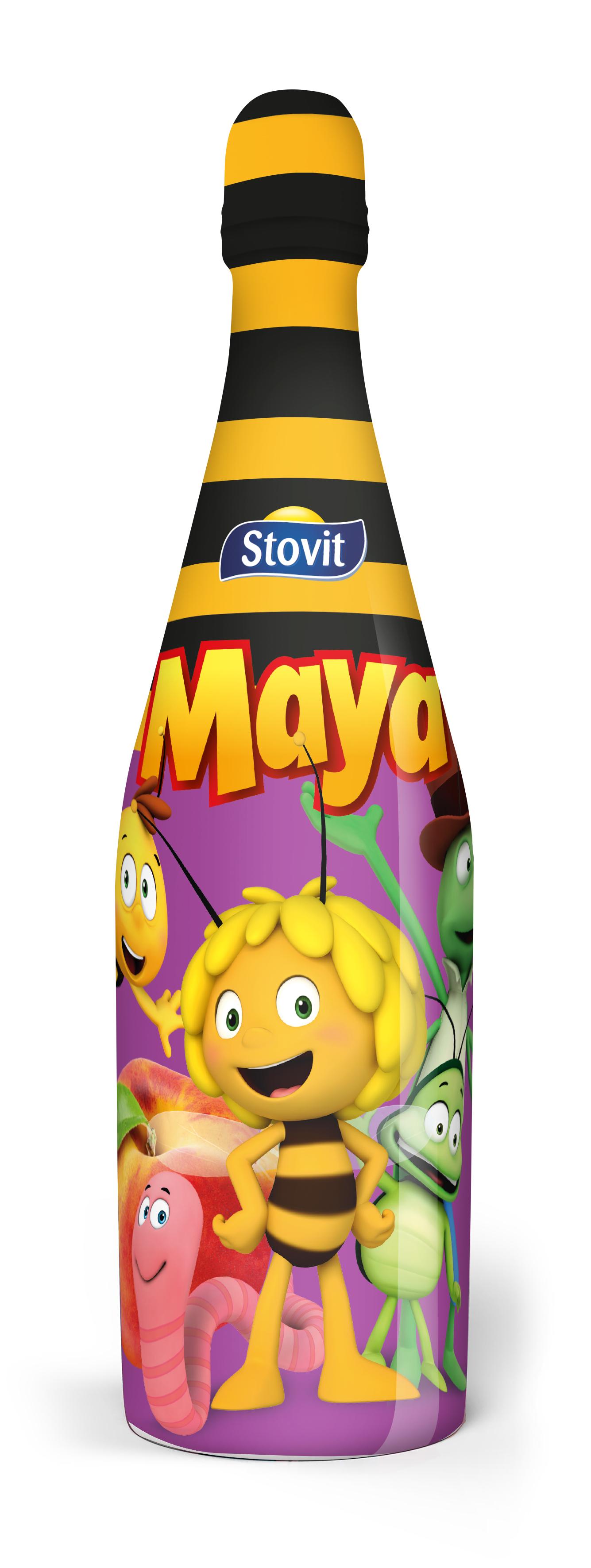 Stovit Maya napój jabłkowo - brzoskwiniowy, gazowany, bezalkoholowy