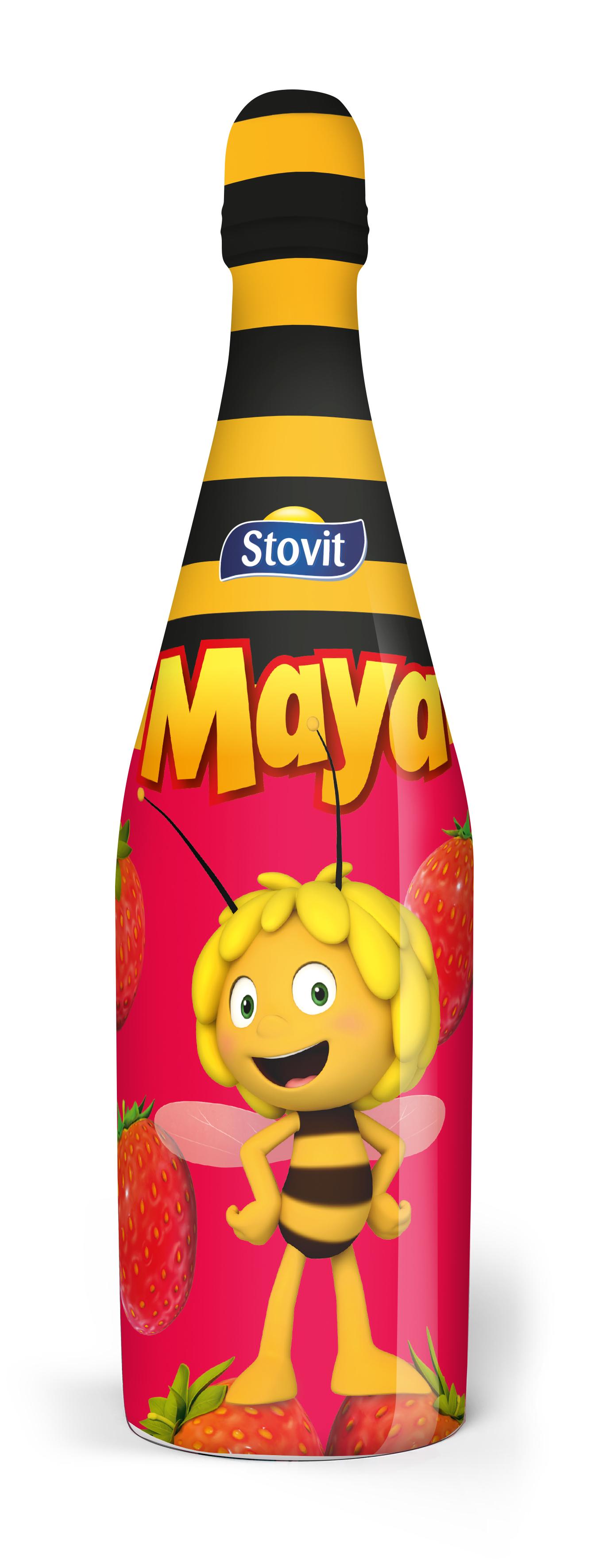 Stovit Maya napój jabłkowo - truskawkowy, gazowany, bezalkoholowy