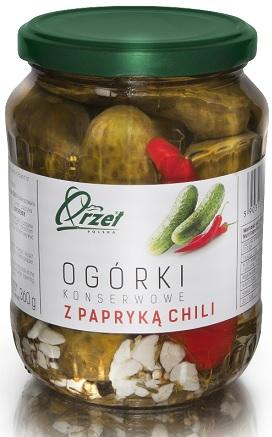 Orzeł Polska Ogórki konserwowe z  papryką chili