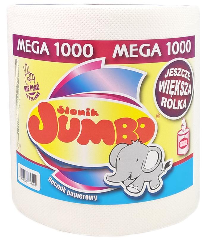 Słonik Jumbo Ręcznik papierowy 1000 2 warstwy, 100% celulozy