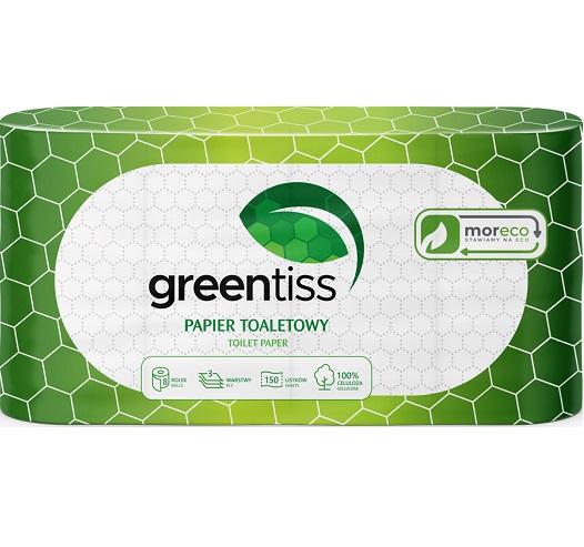 Greentiss Papier toaletowy 150 listków, 3 warstwy, 100% celuloza