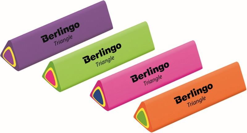 Berlingo Gumka do mazania Triangle mix kolorów