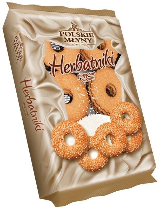 Polskie Młyny Herbatniki posypane cukrem