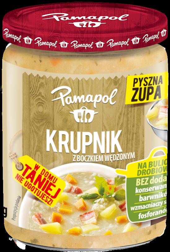 Pamapol Zupa krupnik z boczkiem wędzonym